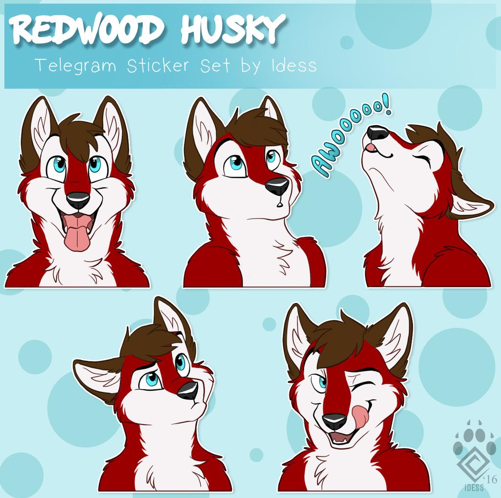 Redwood Husky Telegram Stickers