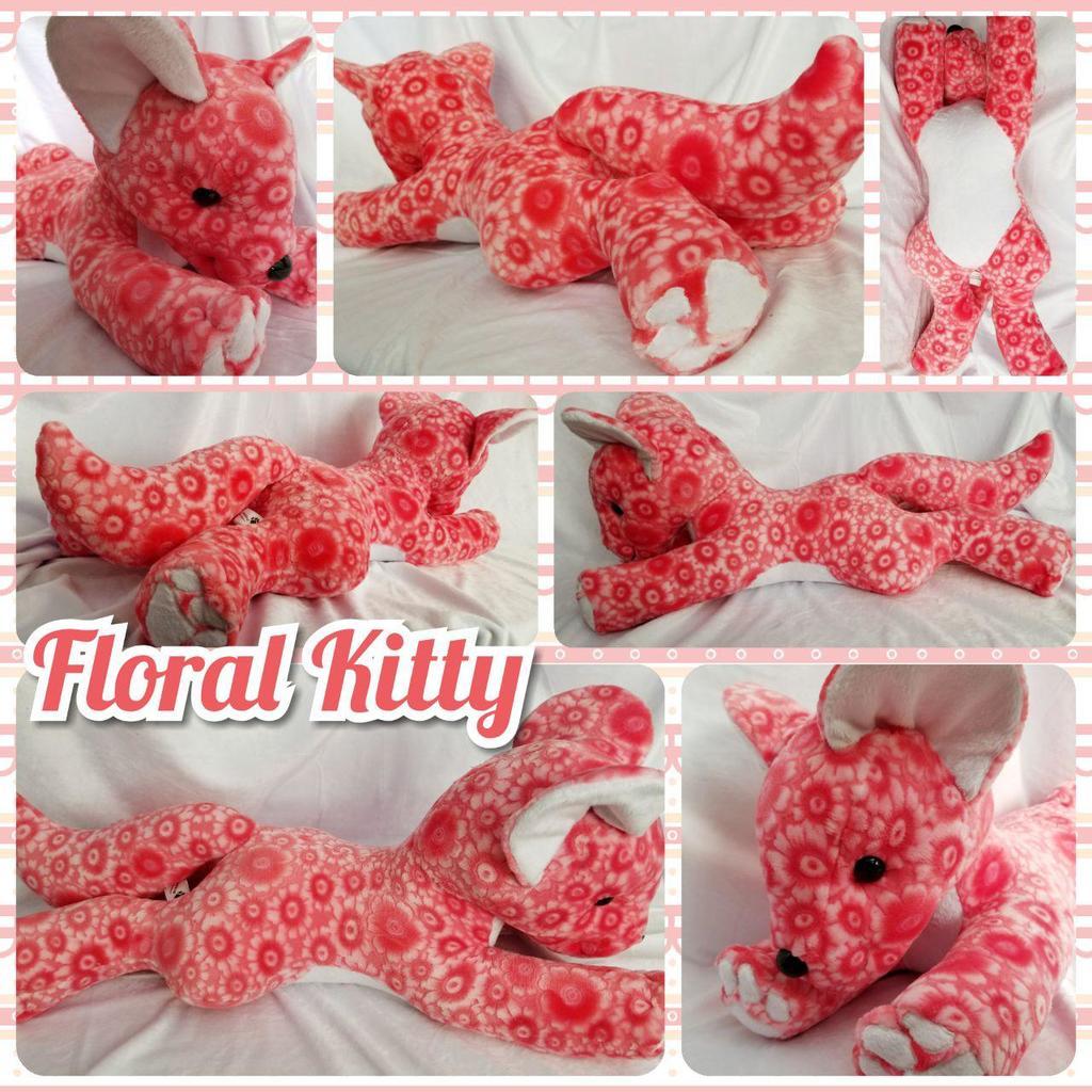 Floral Kitty Plushie