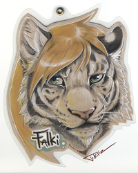 Falki Ferrox - brown paper badge