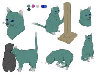 more green cat