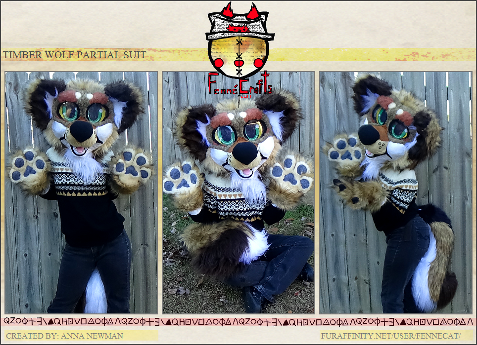 FennéCrafts - Timber Wolf Partial Suit (2017) Sold!