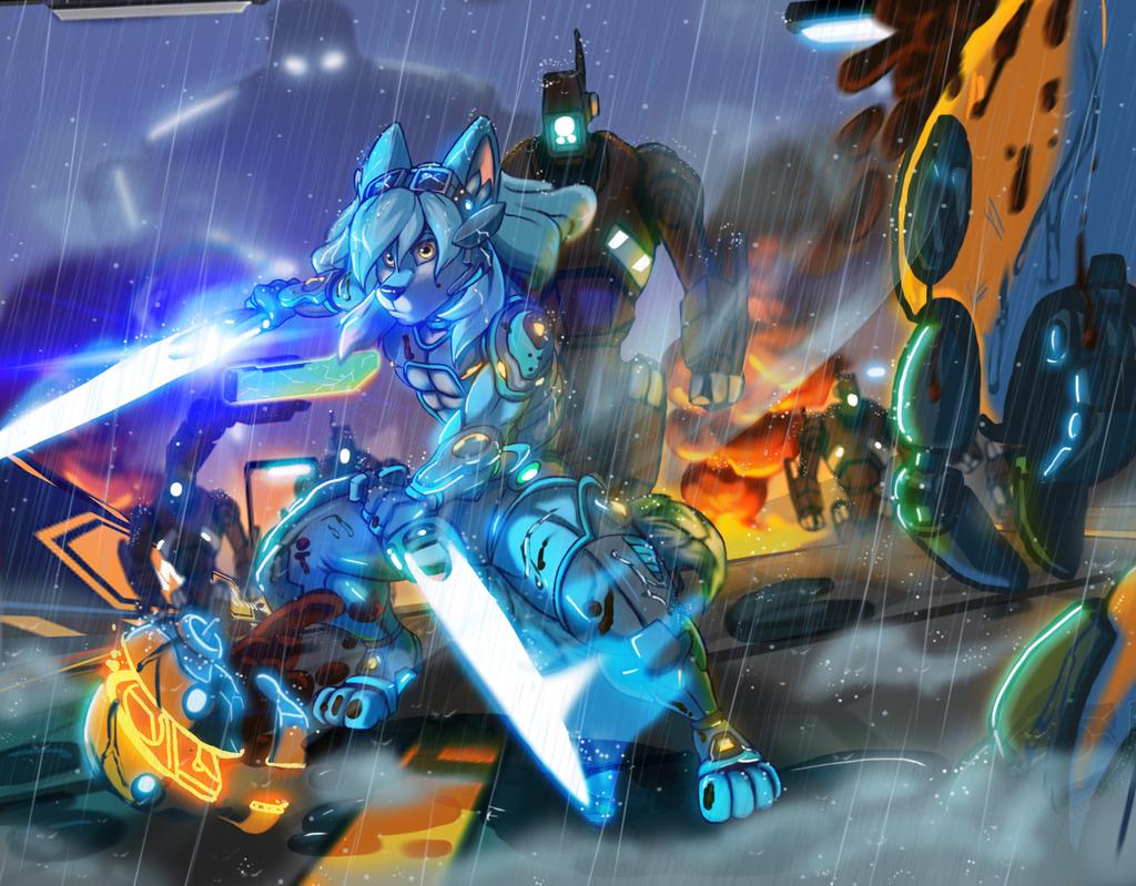 Combat Time!! (Commission Art)