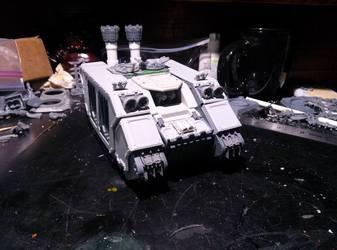 WIP: Excelsior Landraider blu tac assemble