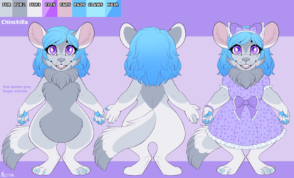 Chinchilla Character Design - Commission