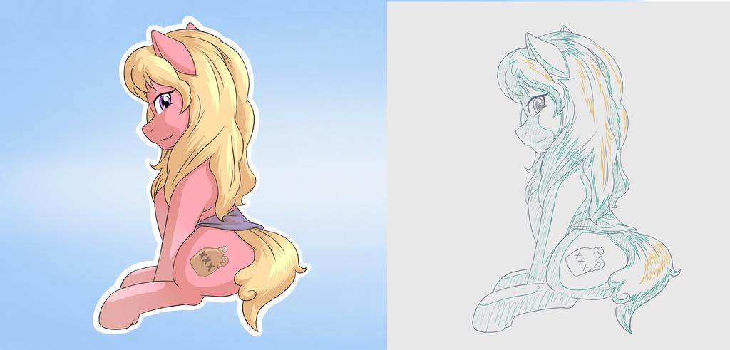 YCH OC pony +sketch no.1