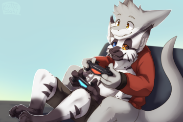 Norz and Syme Snuggle Gaming [Commission]
