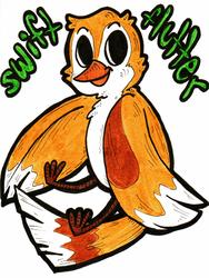 Swift Flutter Chibi Badge