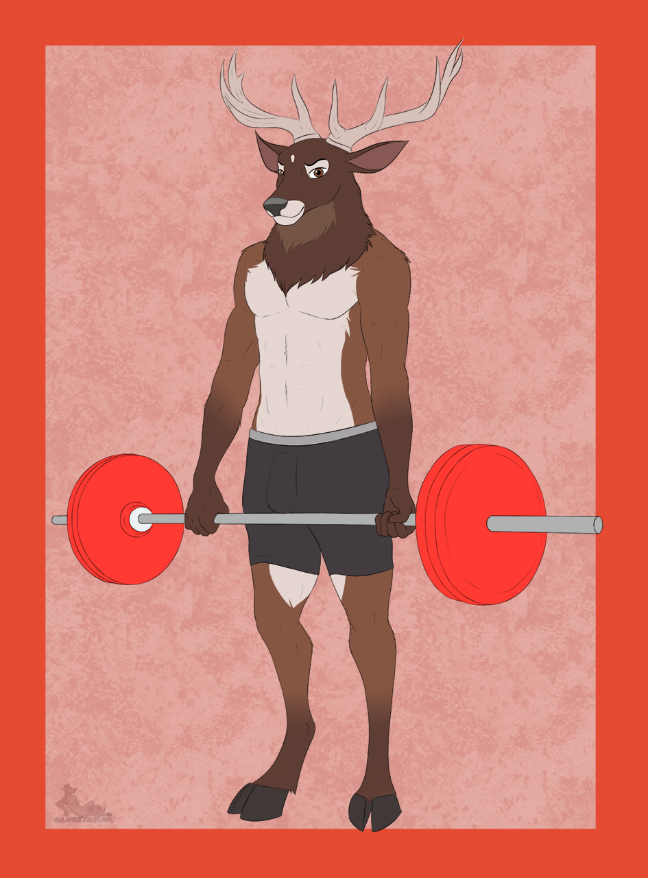 Stag Deadlifts