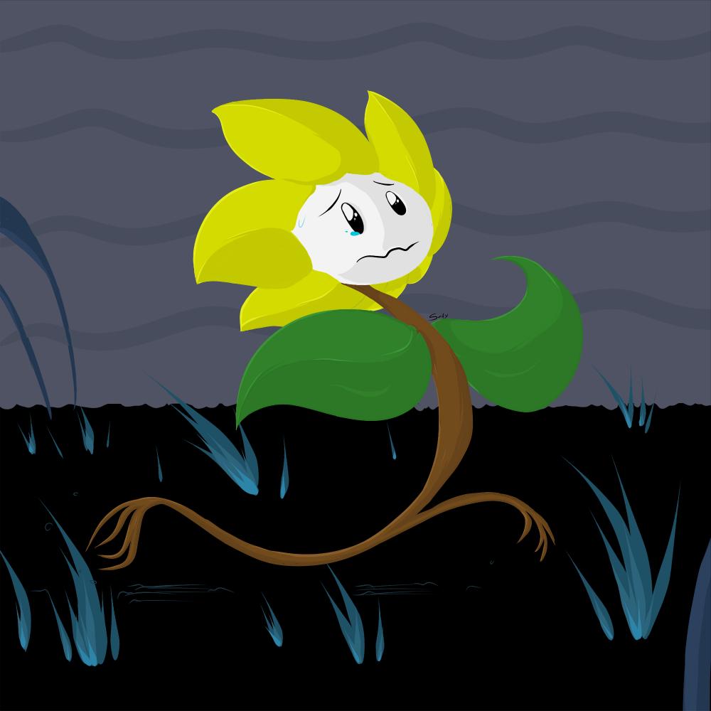 *Flowey ran away. [Colored]
