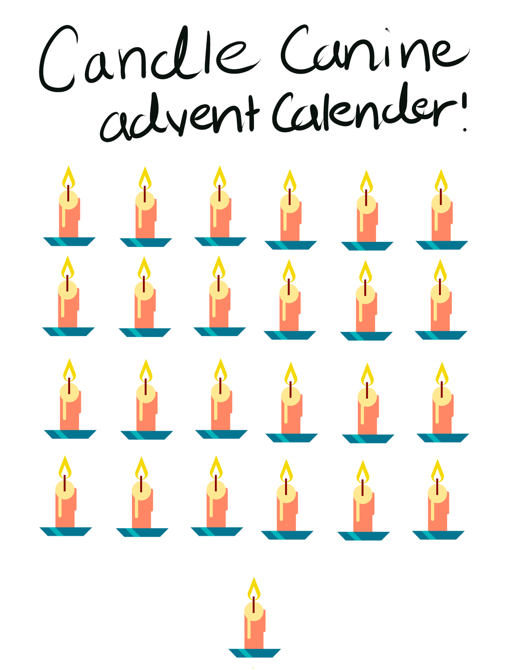 Most recent image: Candle Canine Advent Calender 18 days still open!!