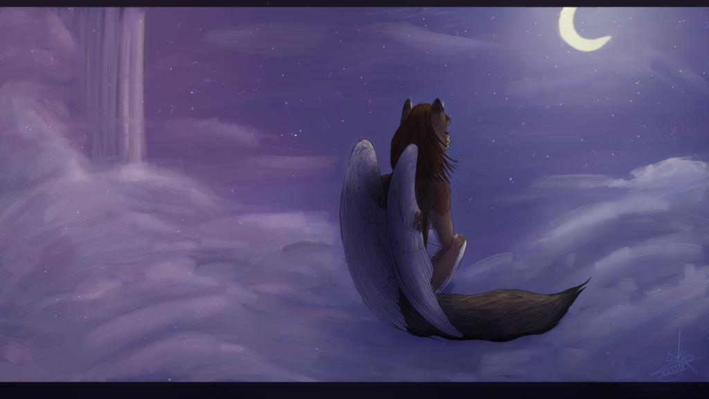 Simuran looking at the sky