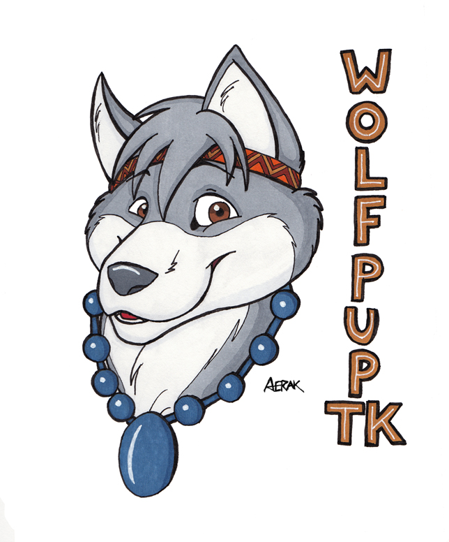Wolf Pup TK Badge - By Aerak