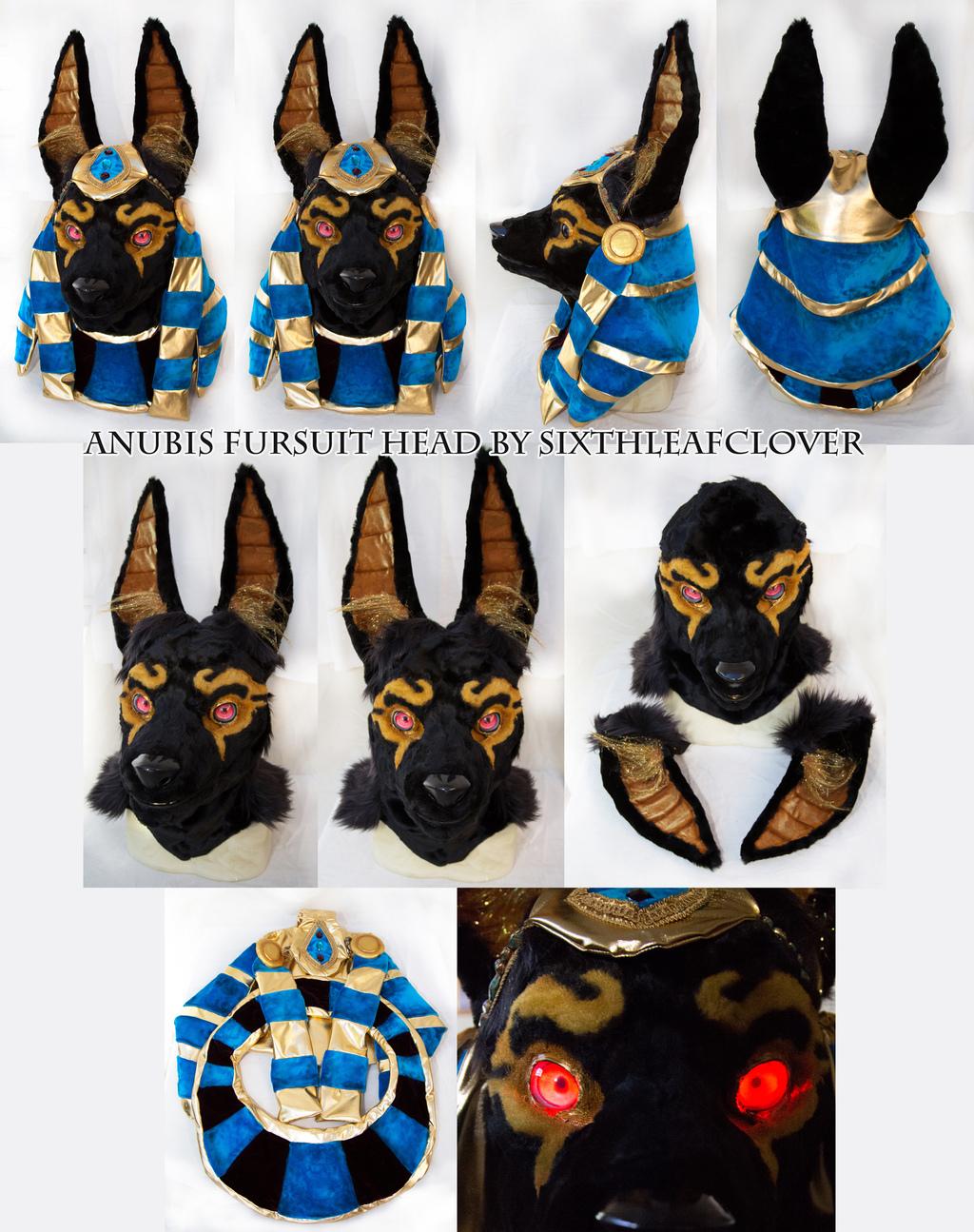 Most recent image: Egyptian Anubis Fursuit Head for sale