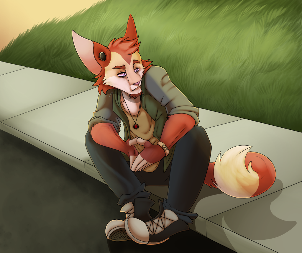 Sitting on the Curb
