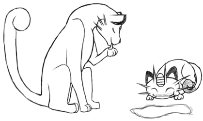 Meowth and Persian