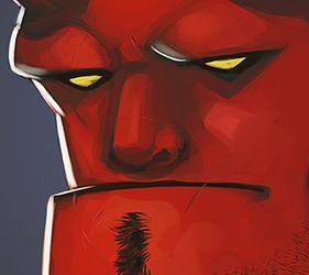 :: Hellboy bust ::