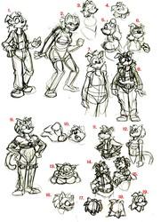 WIP Backslash sketches