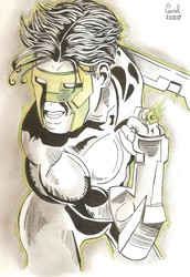 [Indian Ink art] Green Lantern : Kyle Rayner