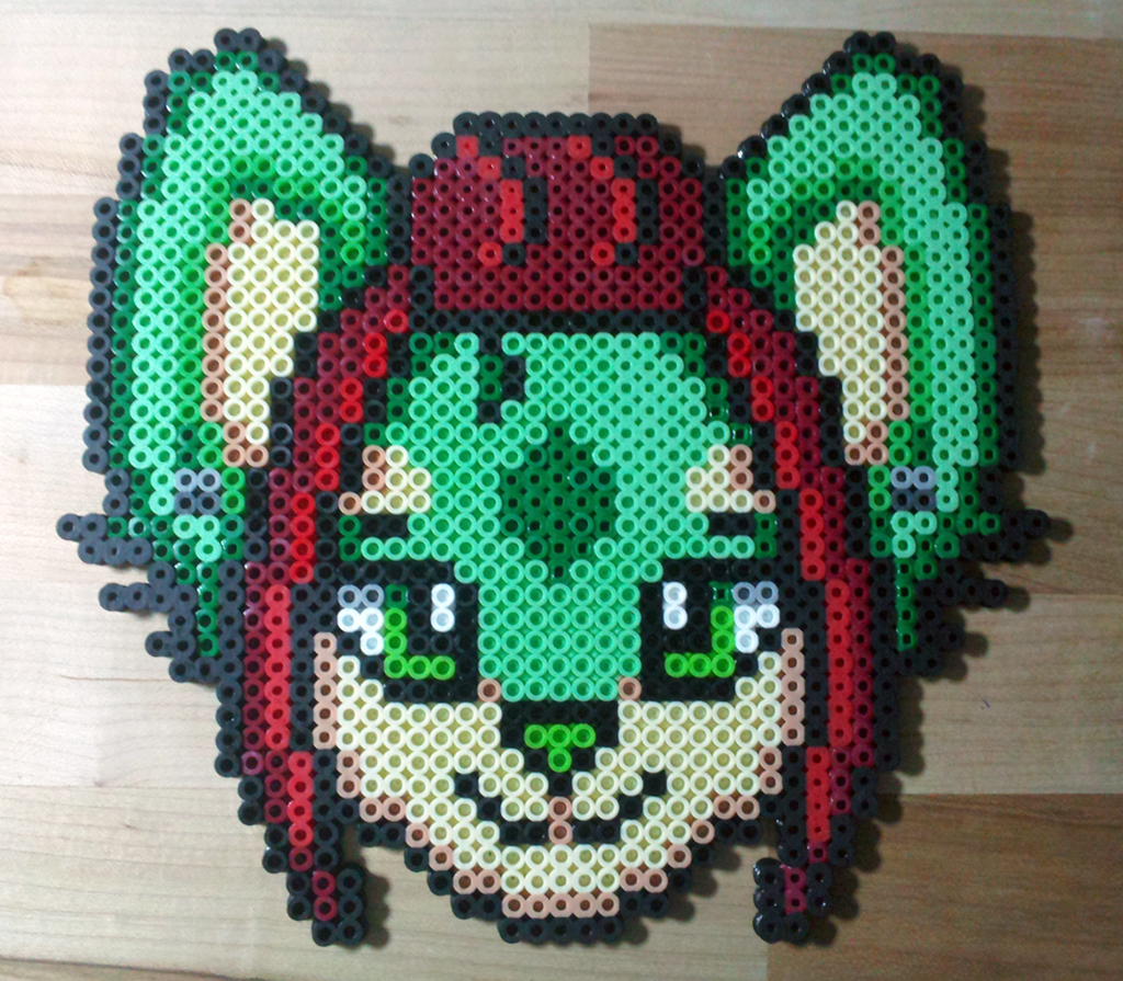 [COMMISSION] Chow Chow Simple Perler Bead Badge