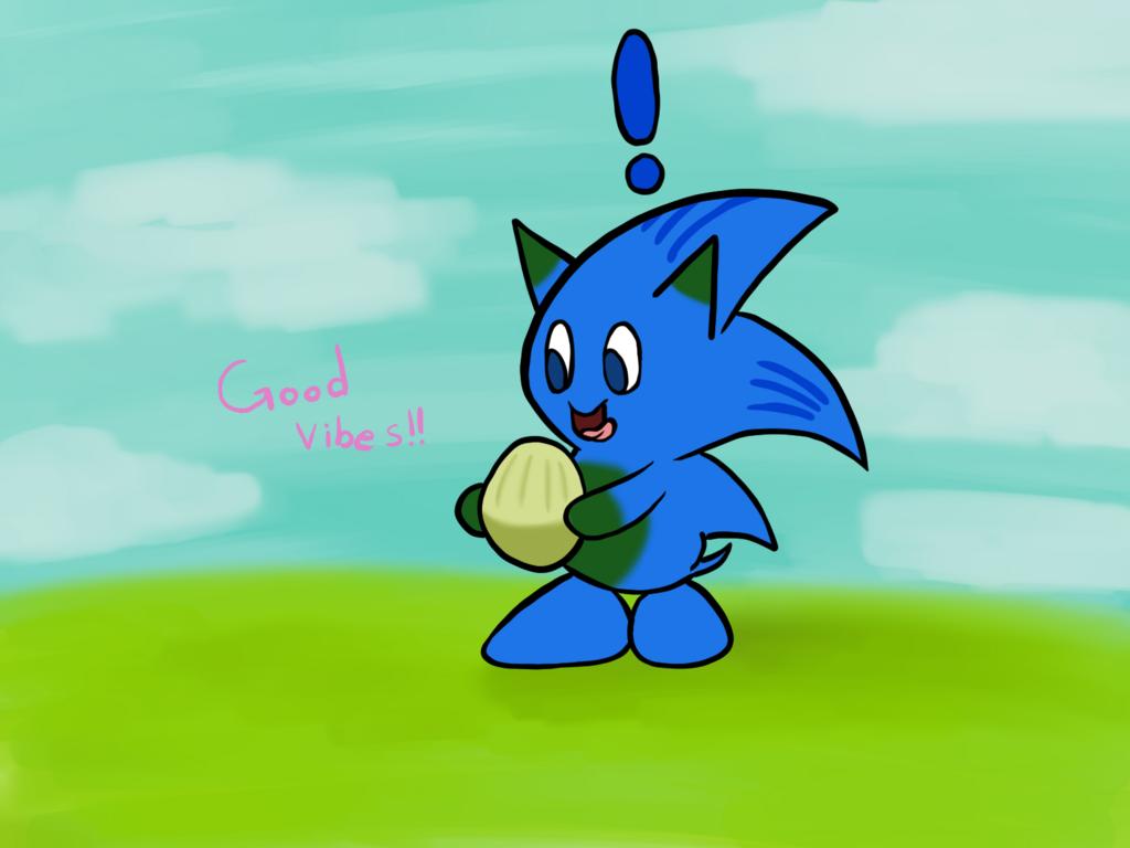 Mugi Draws Sonic Chao