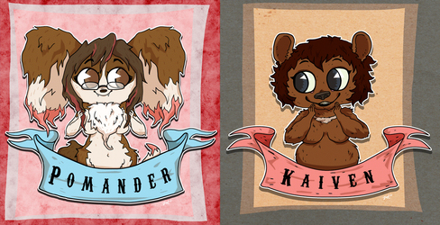 Kaiven and Pom Cutey-Pie busts