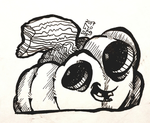 Happy Halloween - Have a Plumpkin ink doodle
