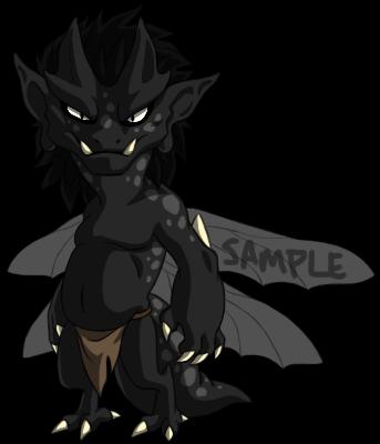 Sample Adoptable Imp - Black Spots