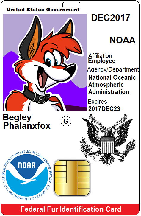 Most recent image: Federal Fur ID Card