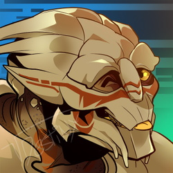 Turian Blep (COMMISSION)
