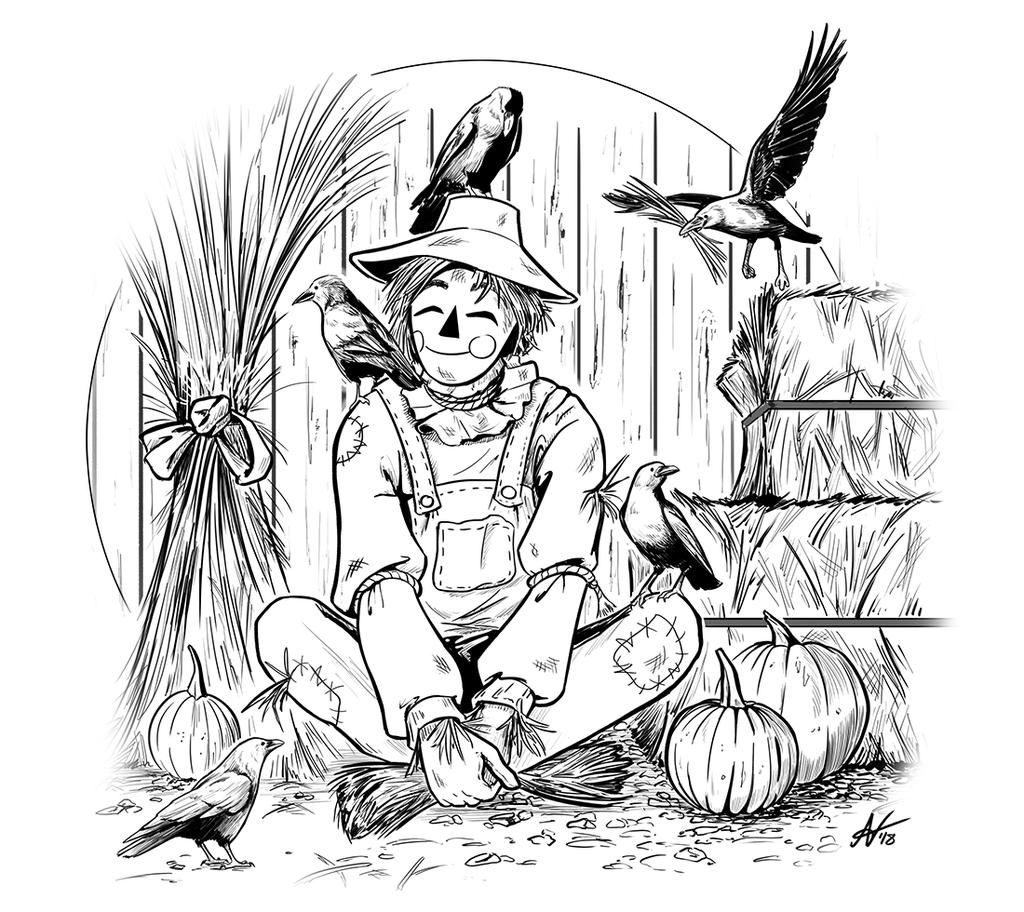 Inktober Day 18- Scarecrow