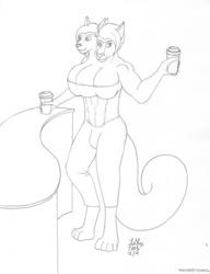 Sandra getting coffees