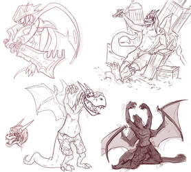 Dragonfire Sketches