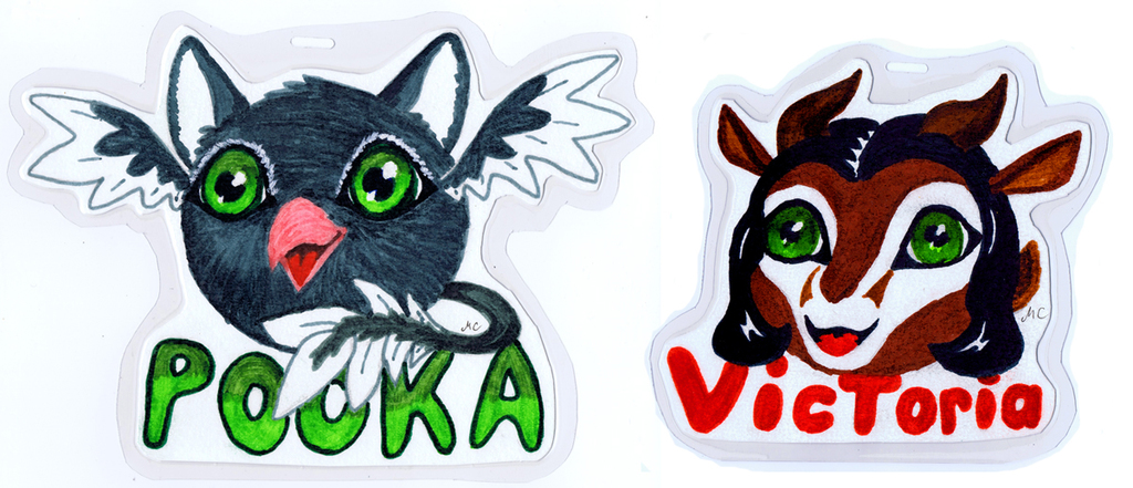 Cutsy Anime Animal badges
