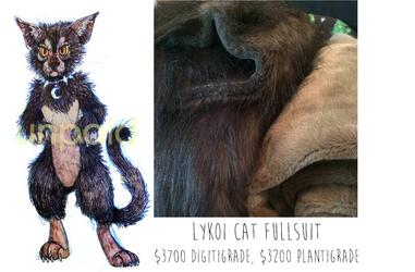 Lykoi Fursuit Adoptable