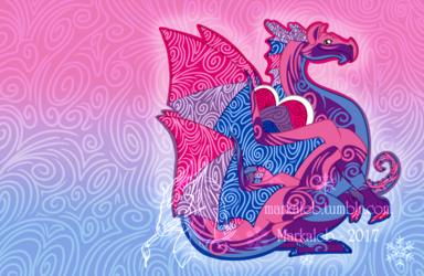 Chibi Bi Pride Dragon