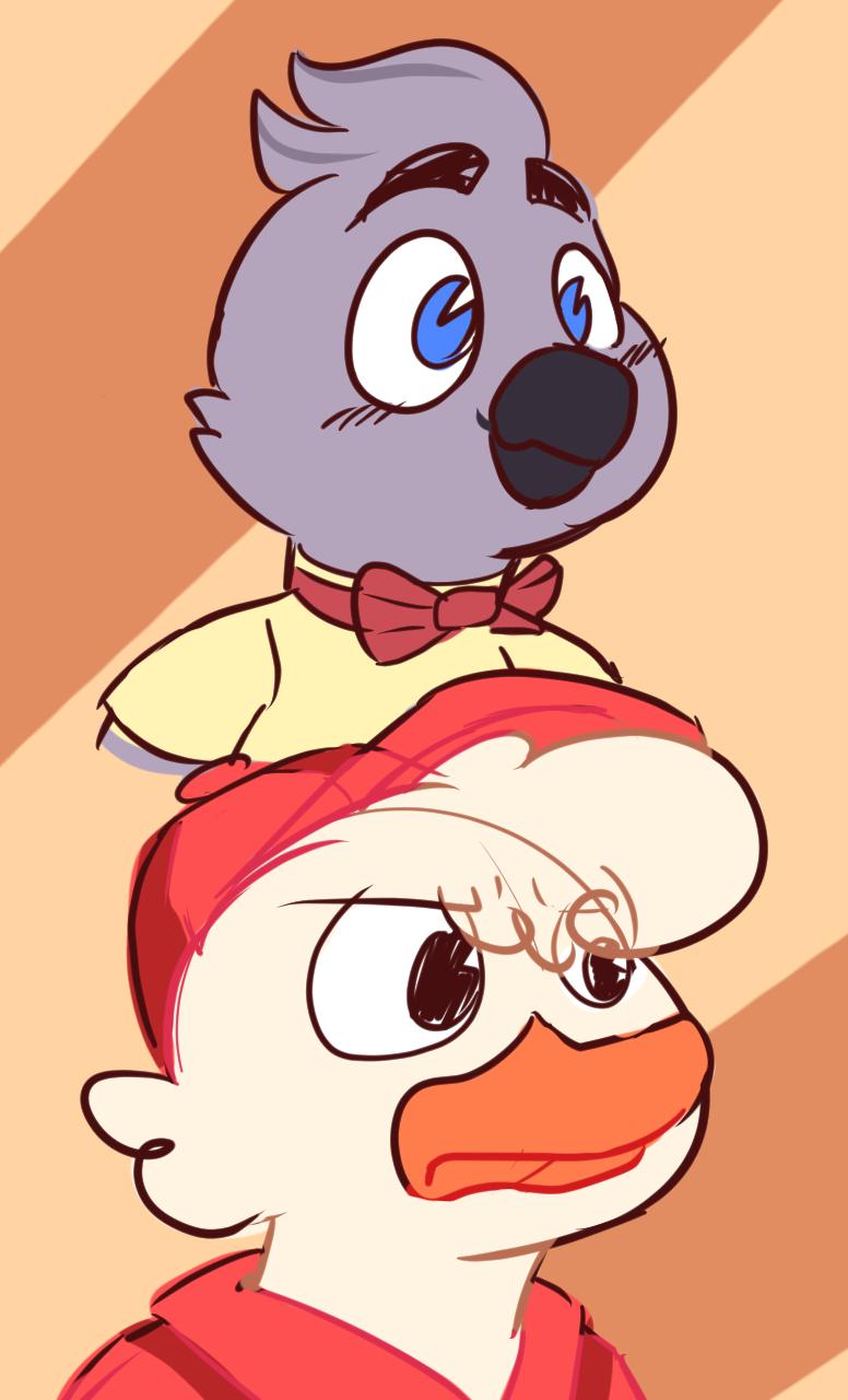 Huey and Boyd doodles!