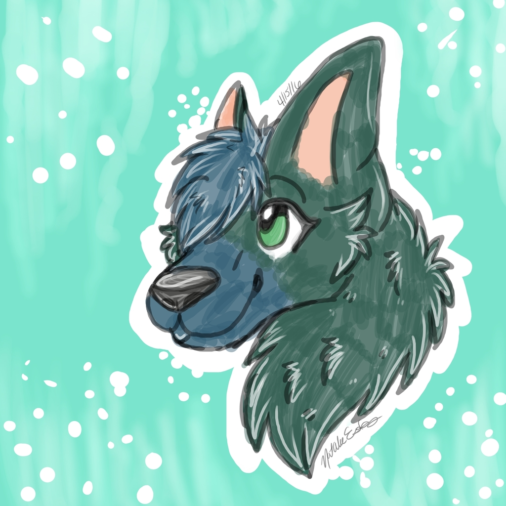 Sketch for sapphire wolf