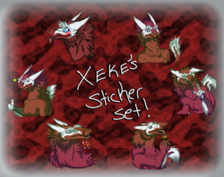 Xeke's sticker set