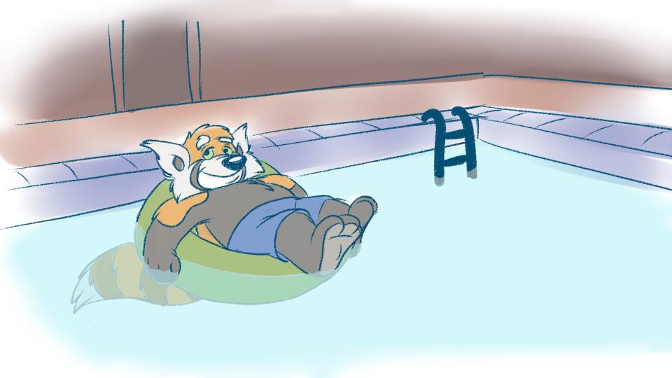 Poolside Panda