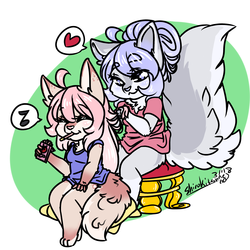 -Commission- Gals being Pals :^)