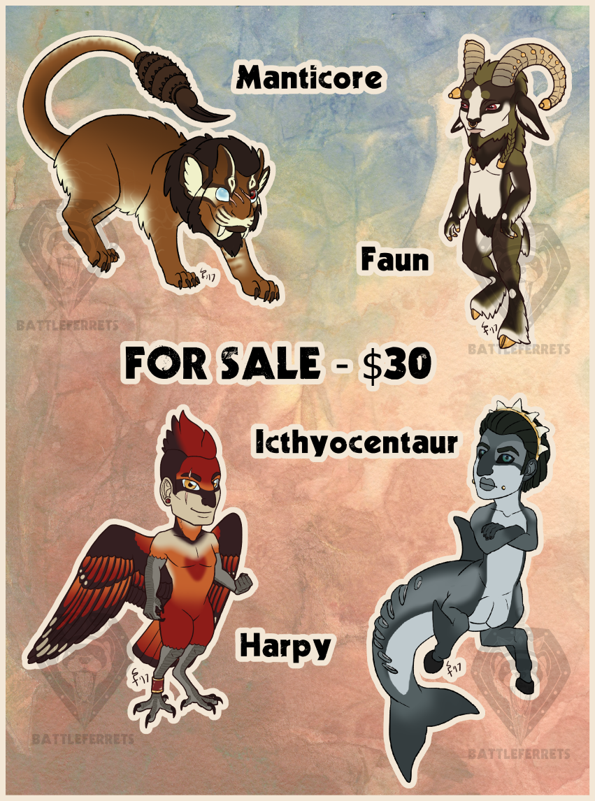 Most recent image: Discounted Mythological Adopts - 3/4 OPEN