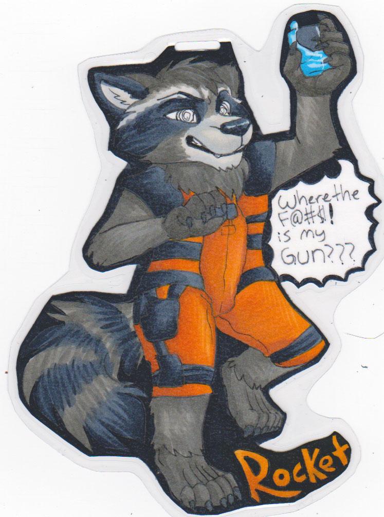 Fullbody badge - Rocket (drunk)
