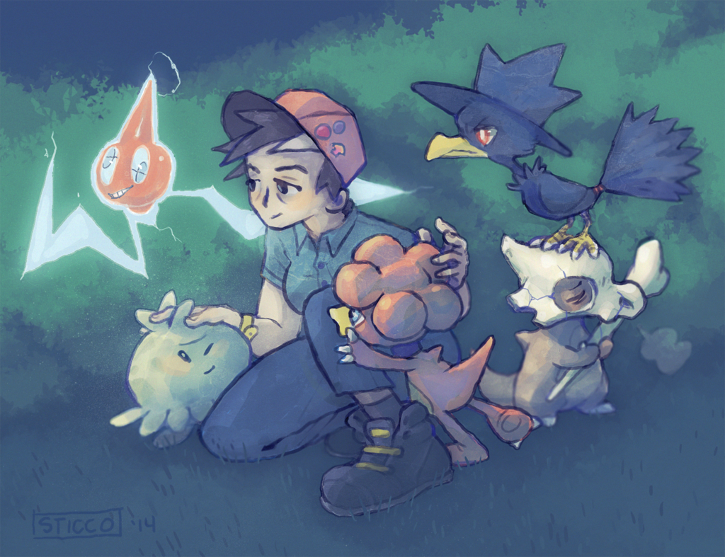 Pokemon Zeta team huddle