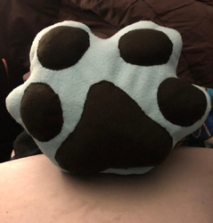 Blue Paw Pillow Plush For Sale
