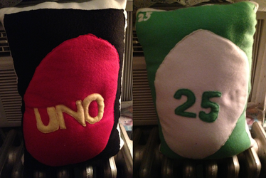 Uno Card Pillow Plush Prop - Commission for lizzieanne98