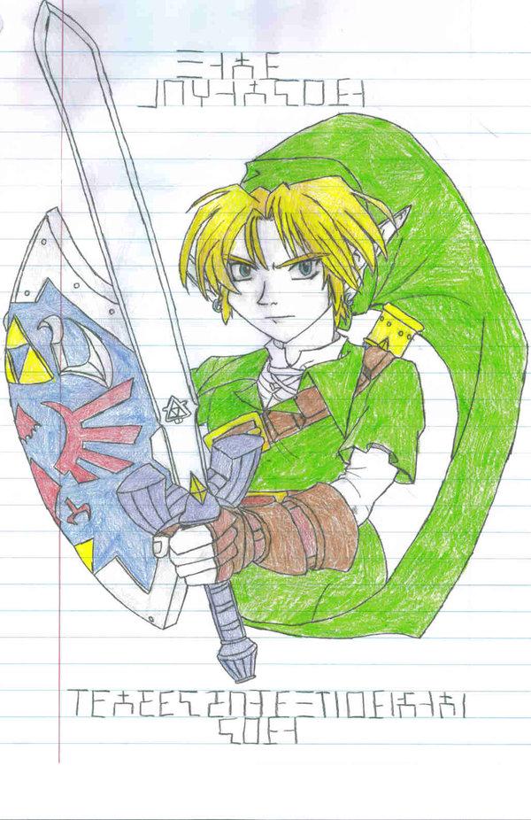 I drew Link from Zelda: Adult