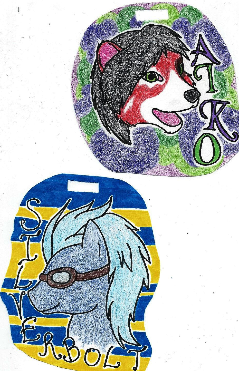 BADGES Aiko Panda and Silverbolt Pegasus