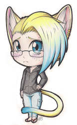 Commish: Neko Boy Chibi