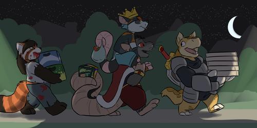 Halloween Partygoers