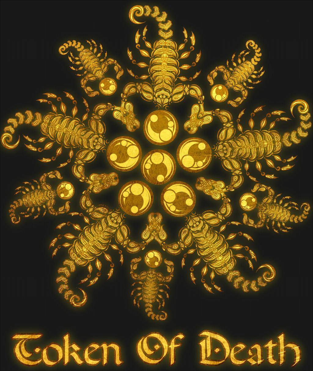 Scorpion Flower - Gold Metal Shirt